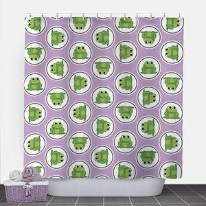 Adorable Frog Purple Shower Curtain at Speckle Rock