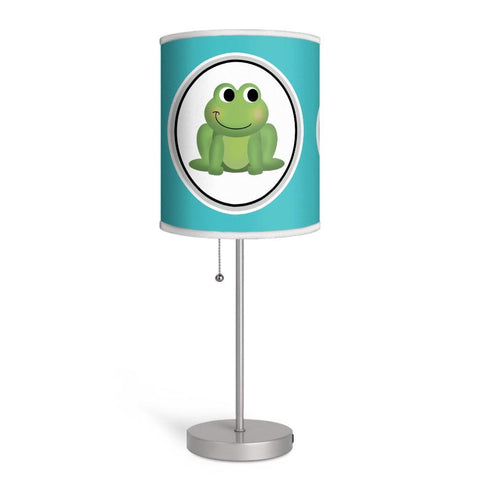 Adorable Frog Turquoise Nursery or Kids Room Lamp at Speckle Rock