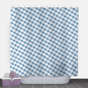 Blue Gingham Shower Curtain at Speckle Rock