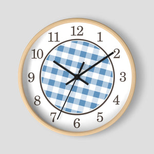 Blue Gingham Wall Clock at Speckle Rock