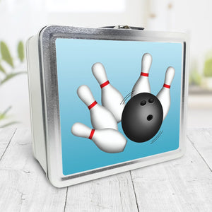 Bowling Ball and Pins Blue Lunch Box at Speckle Rock