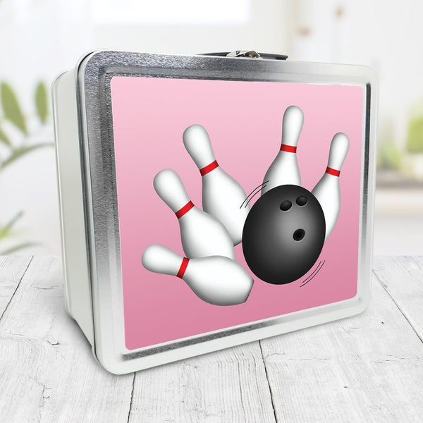 Bowling Ball and Pins Pink Lunch Box at Speckle Rock