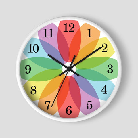 Color Lovers Rainbow Flower Wall Clock at Speckle Rock