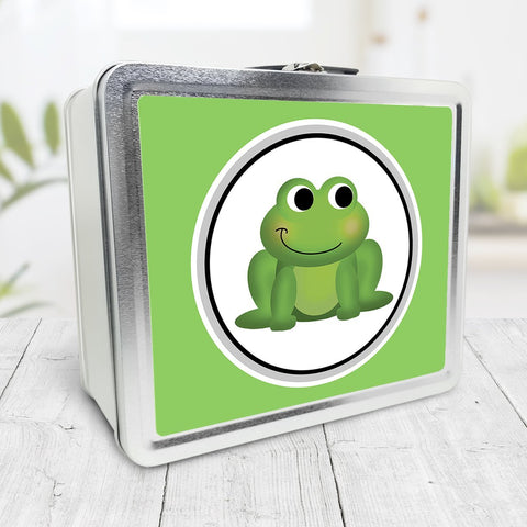Cute Frog Green Lunch Box at Speckle Rock