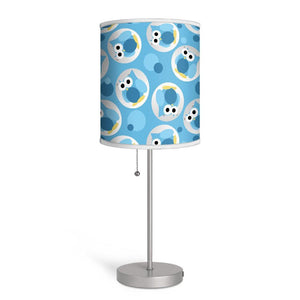 Funny Cute Blue Owl Pattern Nursery or Kids Room Lamp at Speckle Rock