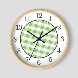 Green Gingham Wall Clock at Speckle Rock