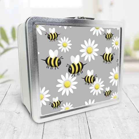 Happy Bee and Daisy Pattern Lunch Box at Speckle Rock