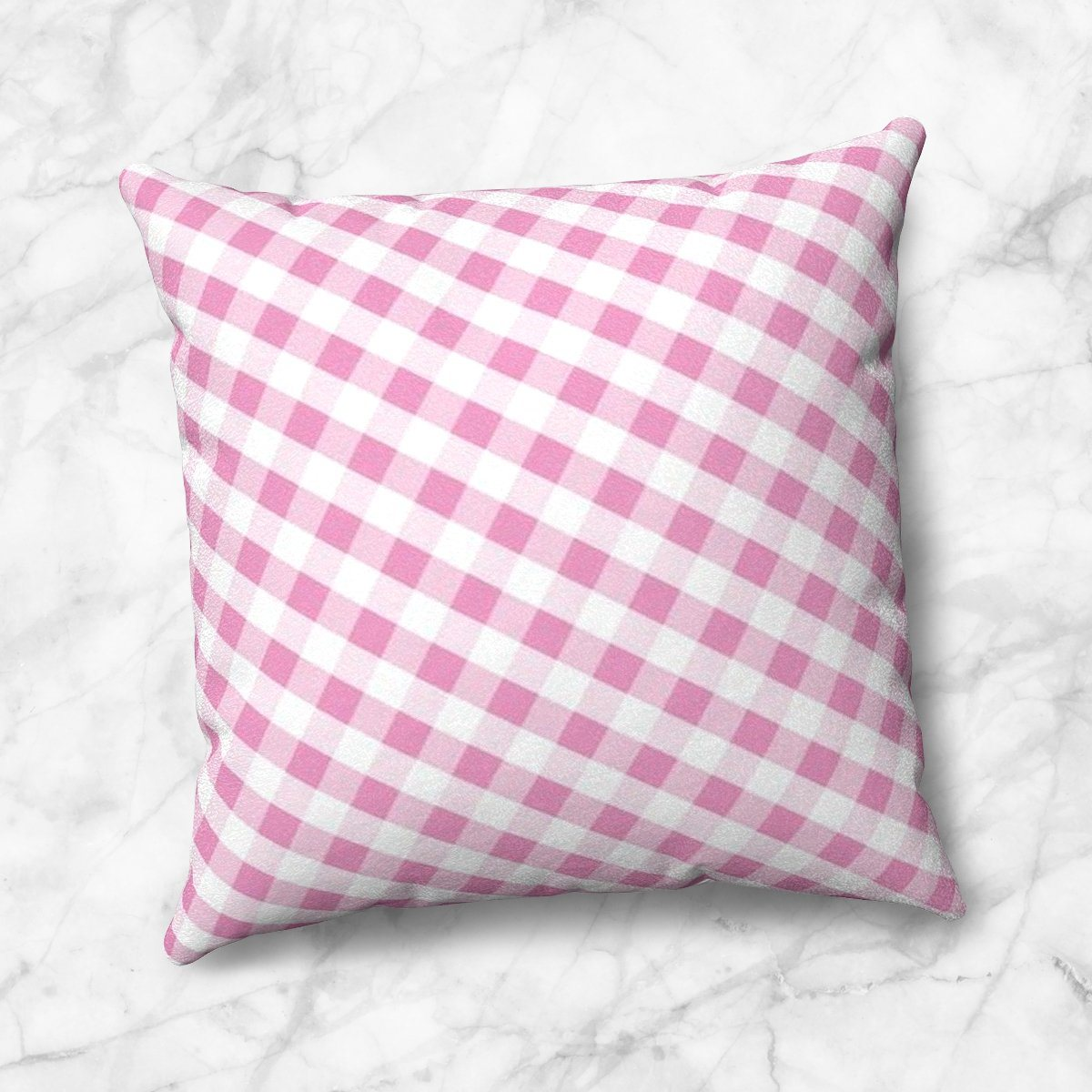 Pink Gingham Throw Pillow at Speckle Rock