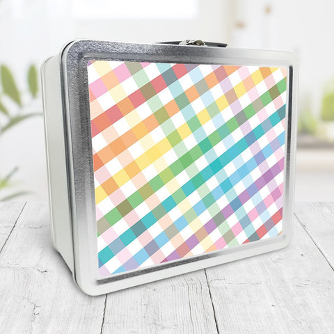 Rainbow Gingham Lunch Box at Speckle Rock