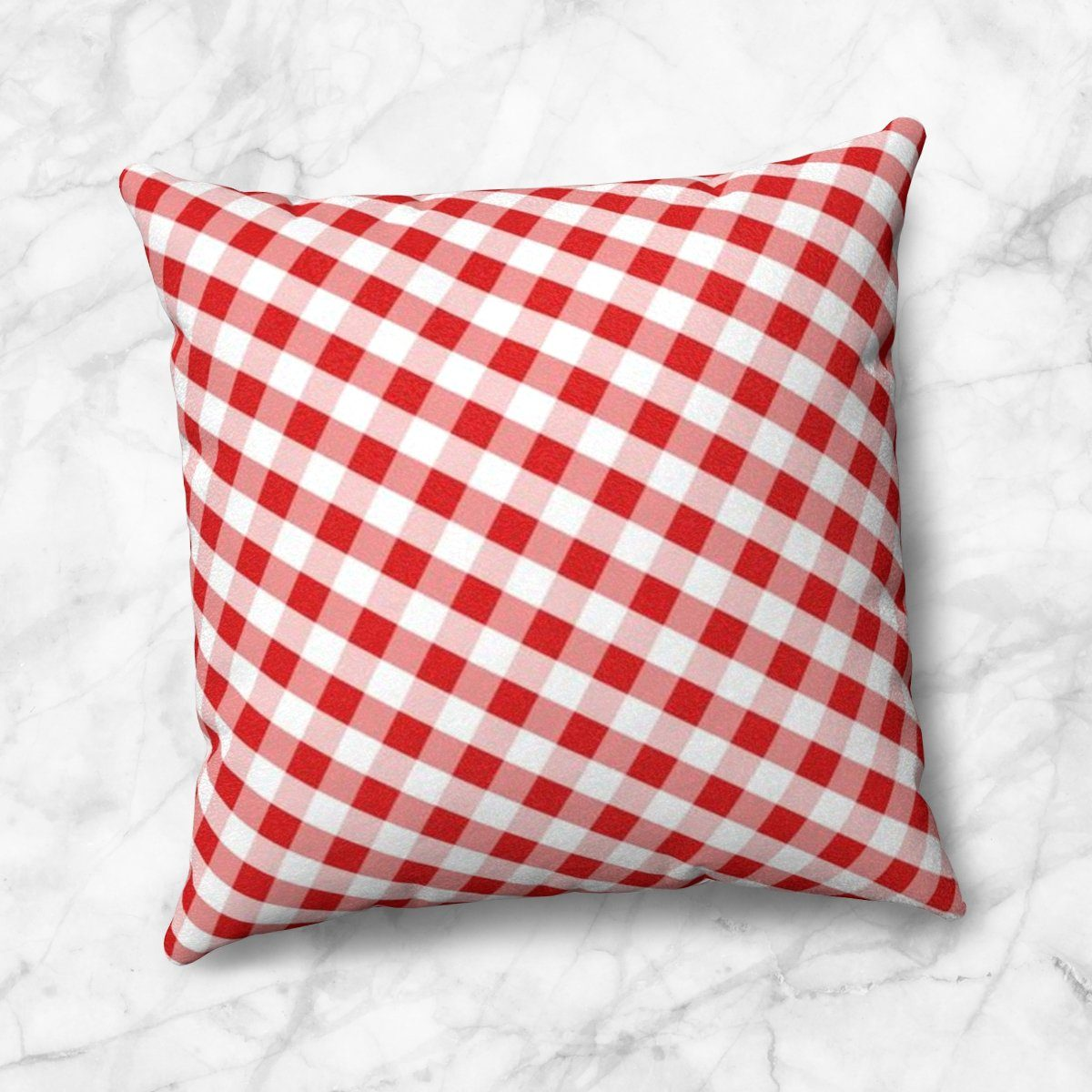 Red Gingham Throw Pillow at Speckle Rock