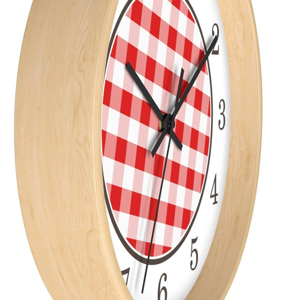Red Gingham Wall Clock at Speckle Rock
