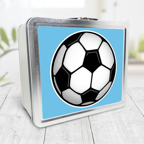 Soccer Ball Blue Lunch Box at Speckle Rock