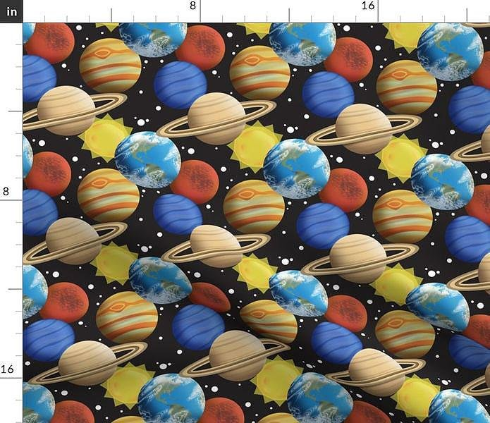 Space Planets Pattern Fabric at Speckle Rock