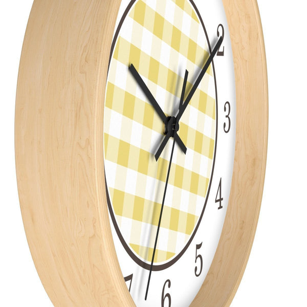 Yellow Gingham Wall Clock at Speckle Rock