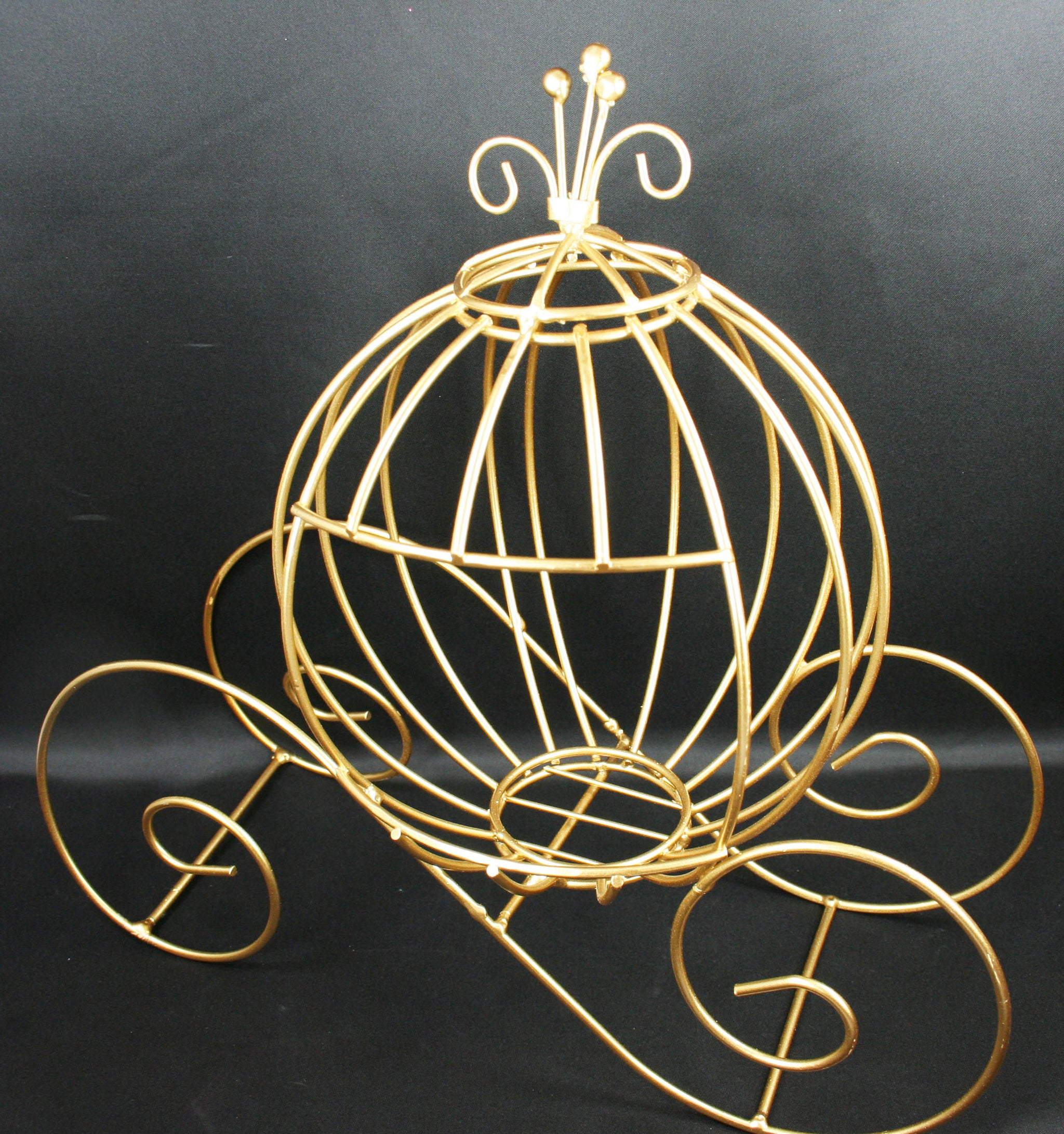 Decorative Metal Pumpkin Carriage Wedding Or Party Table Decor CHOOSE GOLD  Or WHITE