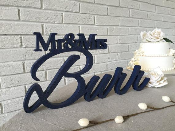 CUSTOMIZED SURNAME WEDDING MAIN TABLE DECORATION - SheilaFans.com