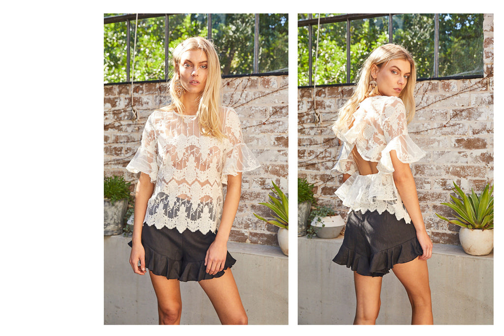 Sound Ruffle Lace Top