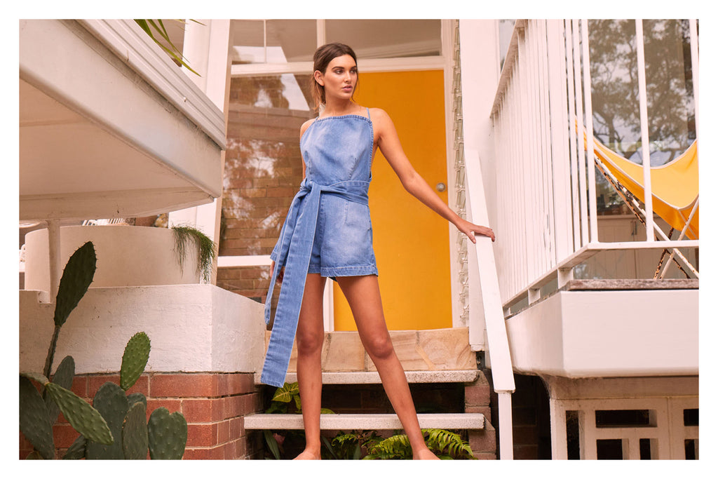 MLM Label Judy Denim Romper