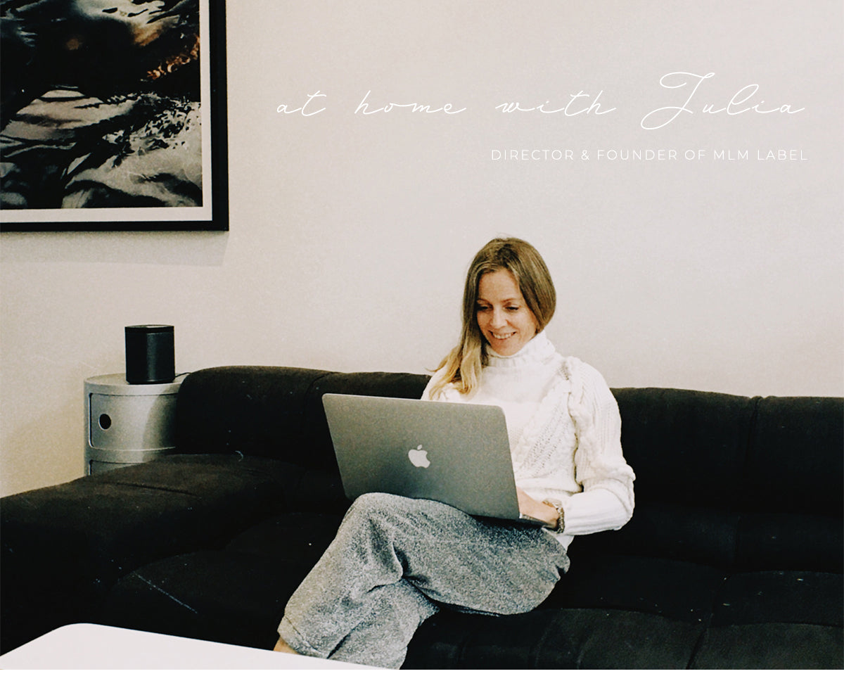 MLM label Julia Softley at home