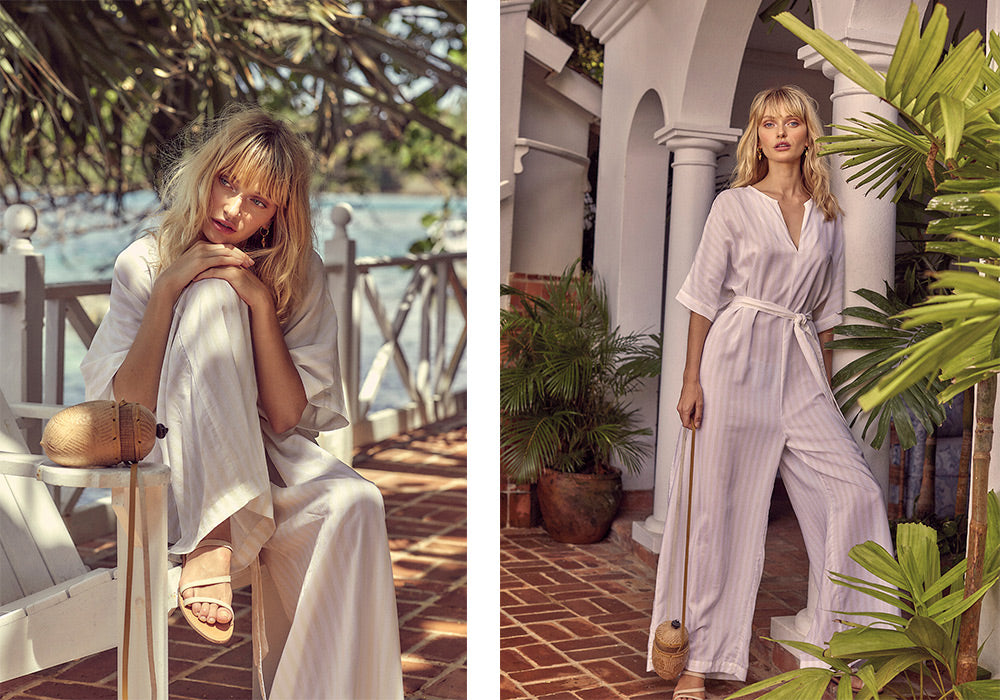 MLM LABEL AFFECTION PANTSUIT LIMONCELLO STRIPE
