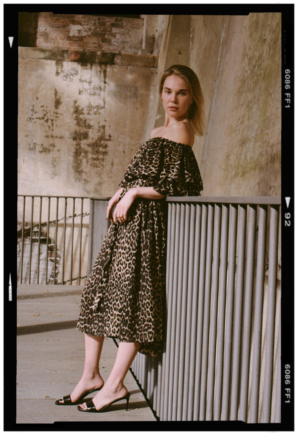 mlm label maison midi dress leopard