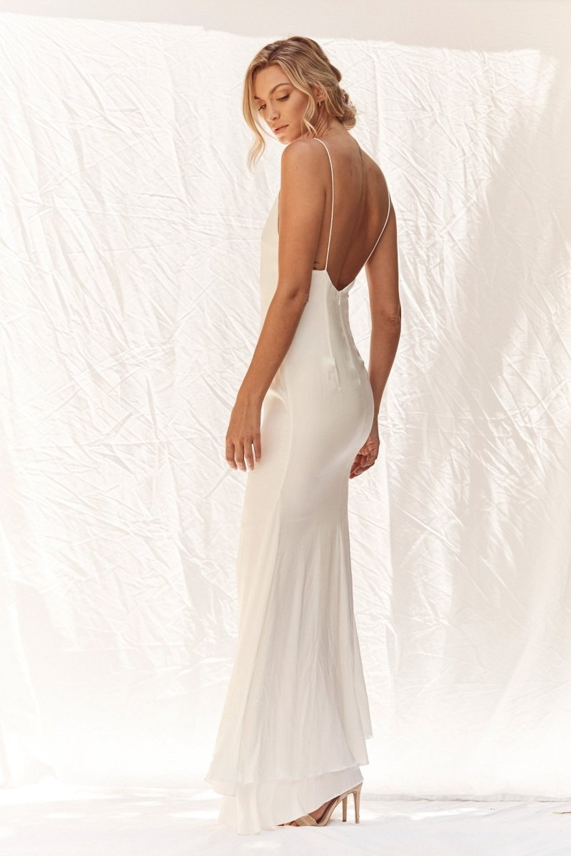 Apollo Bridal Gown - No Train  - 100% Silk Gown