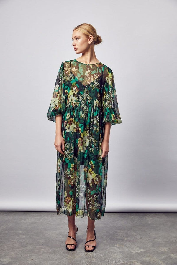 Siesta Silk Midi Dress