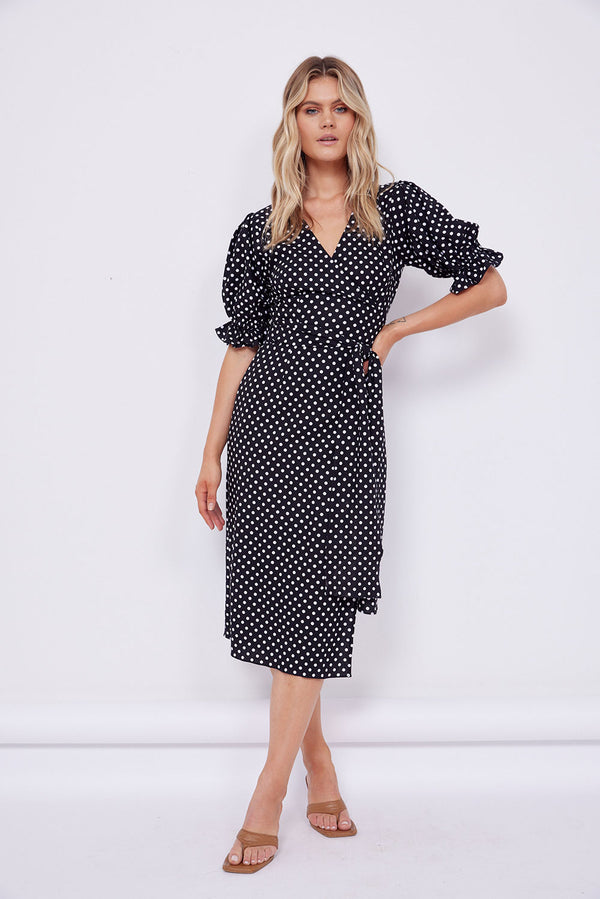 Alexa Wrap Midi Dress