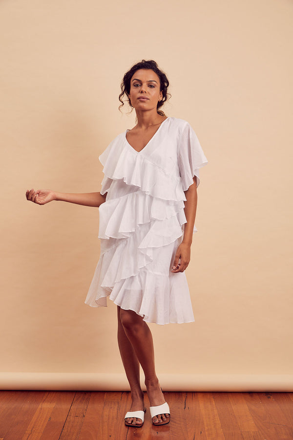 Aven Ruffle Dress