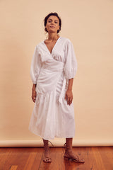 Coco Wrap Cotton Midi Dress