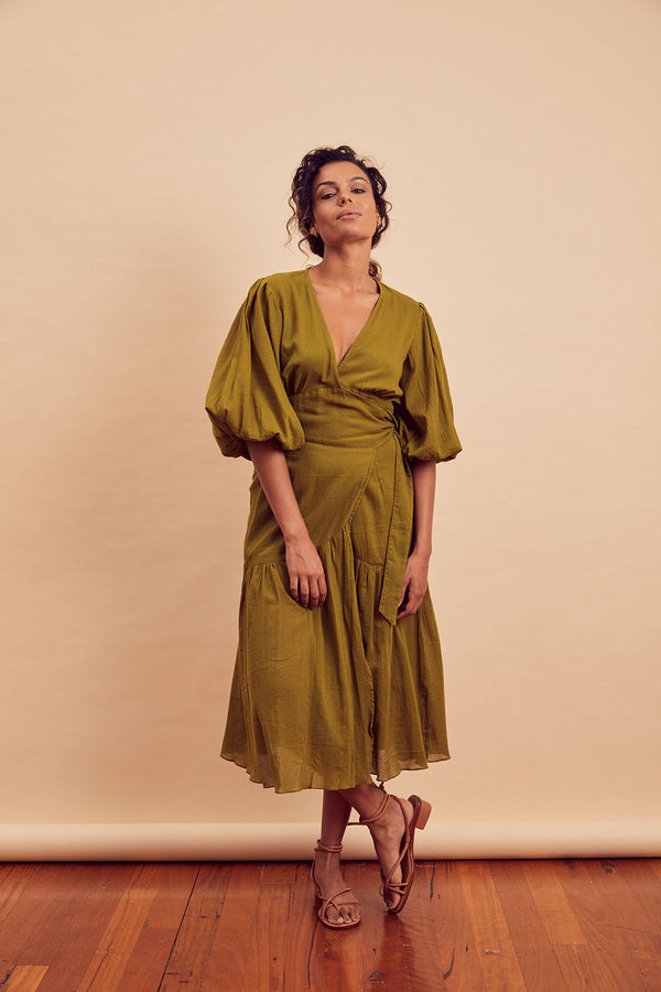 Coco Wrap Midi Dress - FINAL SALE