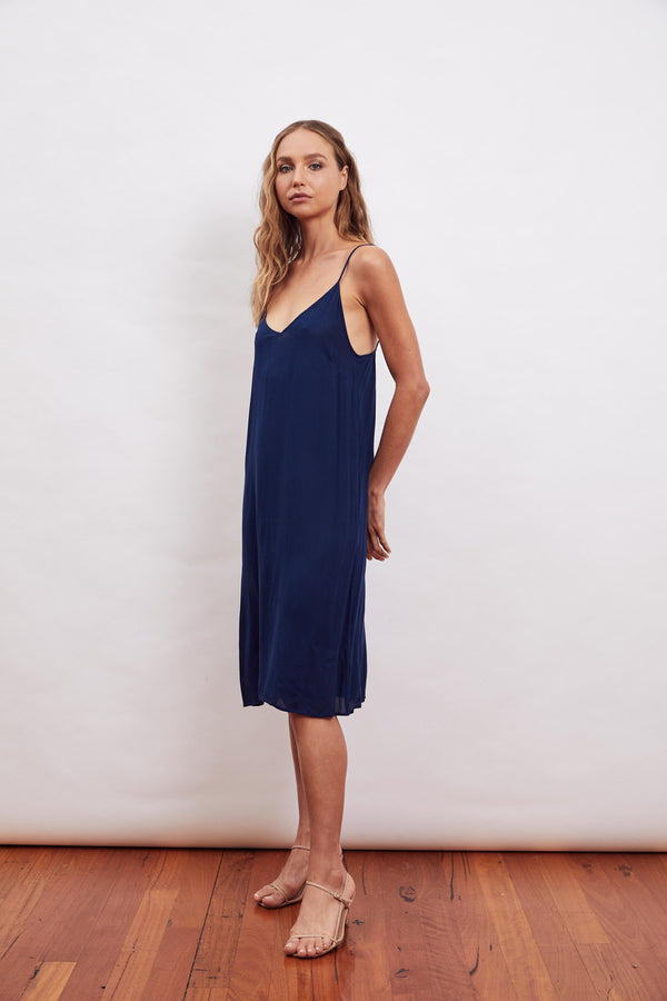 Blue Midi Slip (for MLM Silks)