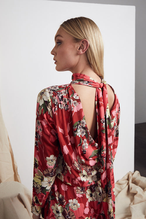 MLM LABEL MALTA MIDI DRESS AMALFI FLORAL