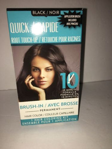 QUICK/RAPIDE ROOT TOUCH-UP 10 MINUTE FORMULA BLACK/NOIR BRUSH IN FAST & EASY