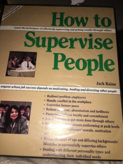 how to supervise people jack kaine Audio cassette