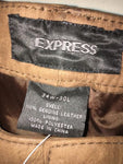 Men's Genuine Leather Pants Trousers Jeans By Express 34 X 30  Brand New W Tags