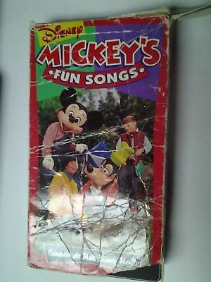 Sing Along Songs - Mickeys Fun Songs: Campout at Disney World VHS, 1994