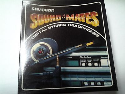 Vintage Calibron Soundmates Digital Stereo Headphones