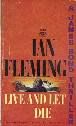 JAMES BOND  Live And Let Die by Ian Fleming 1963 paperback book