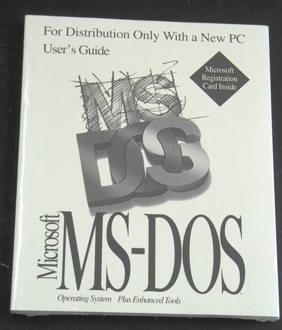 MS-DOS Operating System User's Guide Microsoft Registration Card New Sealed Old