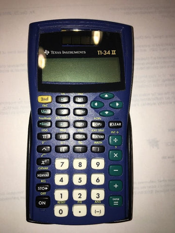 Texas Instruments TI-34 II Scientific Calculator With Original Cover Very Nice