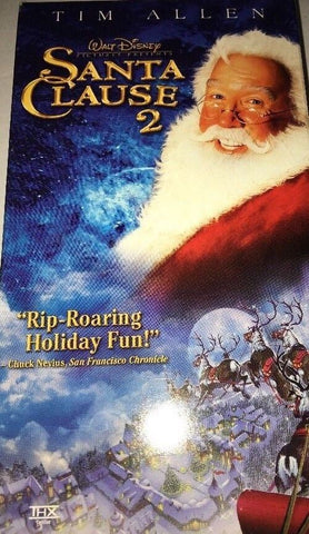 """SANTA CLAUSE 2""VHS Movie Tape-Tim Allen-Walt Disney-TESTED-RARE-SHIPS IN 24 HRS"