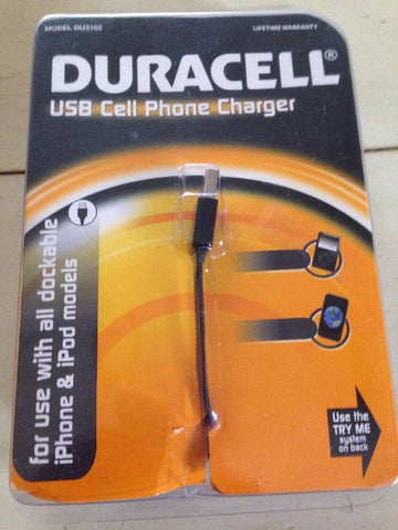 New Duracell USB Cell Phone Charger iPhone 4
