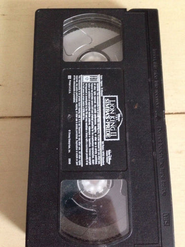 Disney's THE LION KING II SIMBA'S PRIDE - Tape Only VHS
