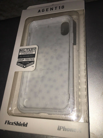 Agent 18 iPhone X  FlexShield Case    White / Rose Confetti
