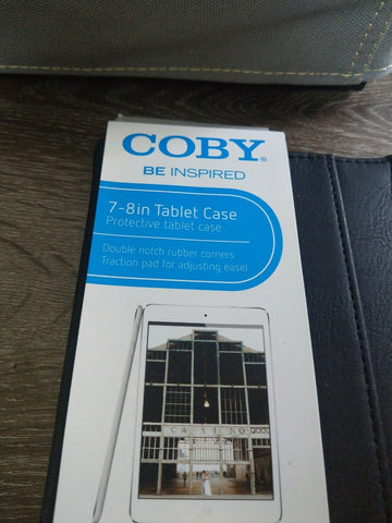 "New Colby 7-8"" Protective Tablet Case Black. Includes cloth and purple  stylus"
