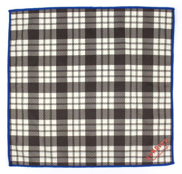 The Not So Squares handkerchief is a classic plaid design with a modern blue edge take. Classic and modernized, wear it as a pocket square or carry it as a all purpose cloth.