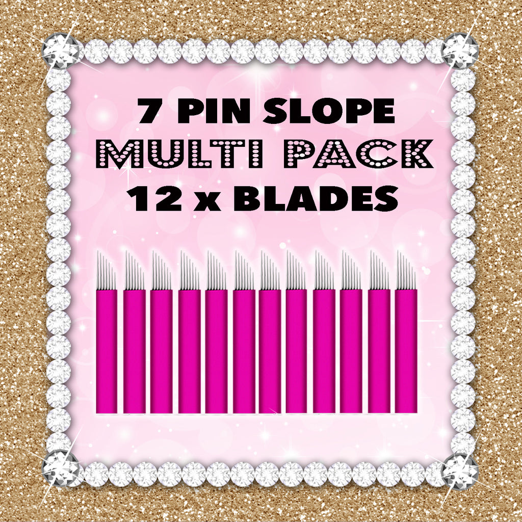 7 Slope - Pink Collection 12 Blade Multipack