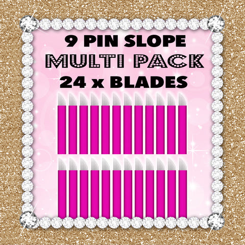 9 Slope - Pink Collection 24 Blade Multipack