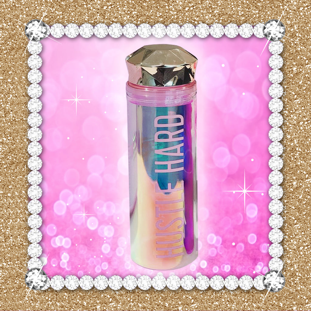 HUSTLE HARD Lux Jewel Shimmer Water Bottle